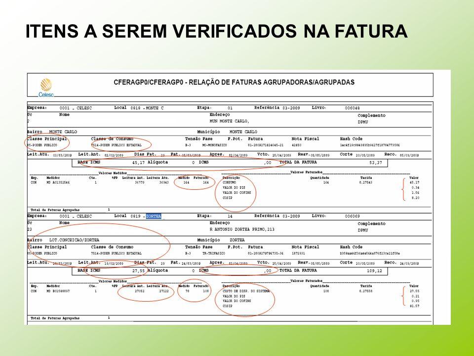 FATURA GRUPO A - TARIFA CONVENCIONAL CONSUMO x DEMANDA