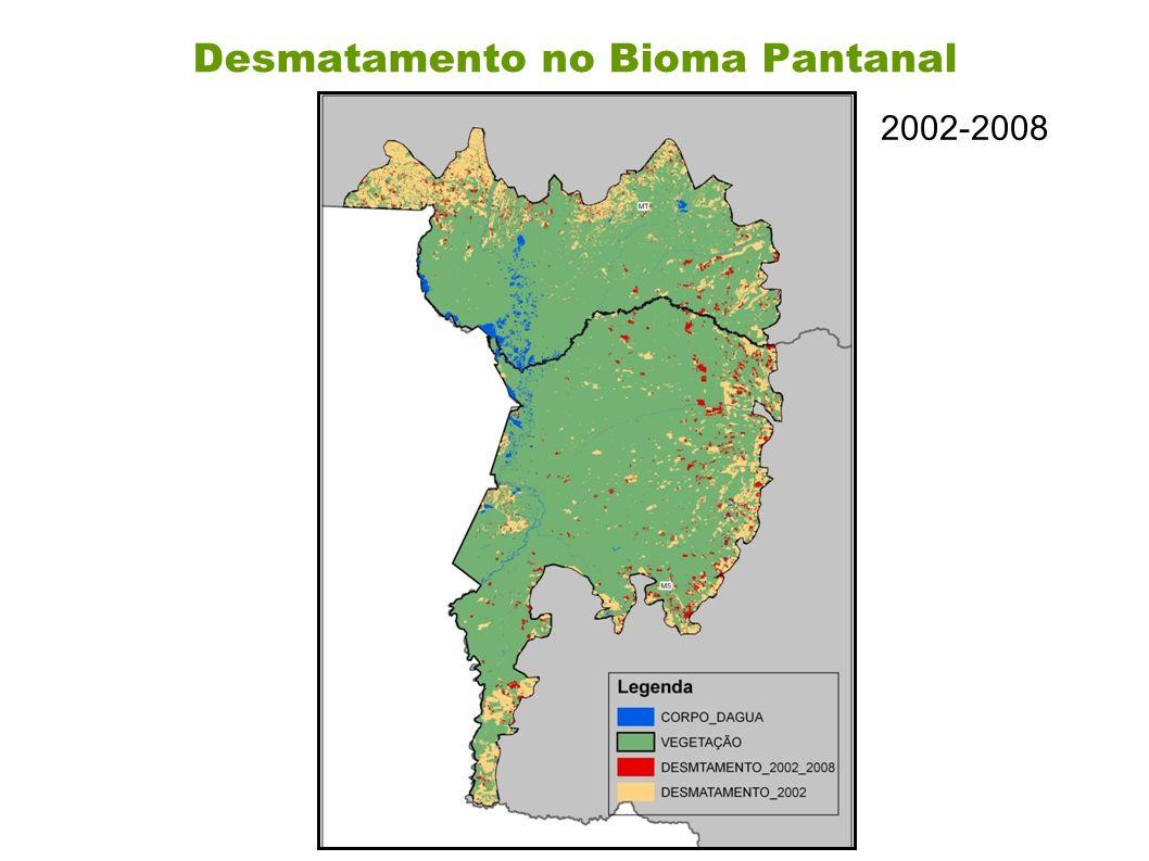 Desmatamento no Bioma Pantanal 2002-2008