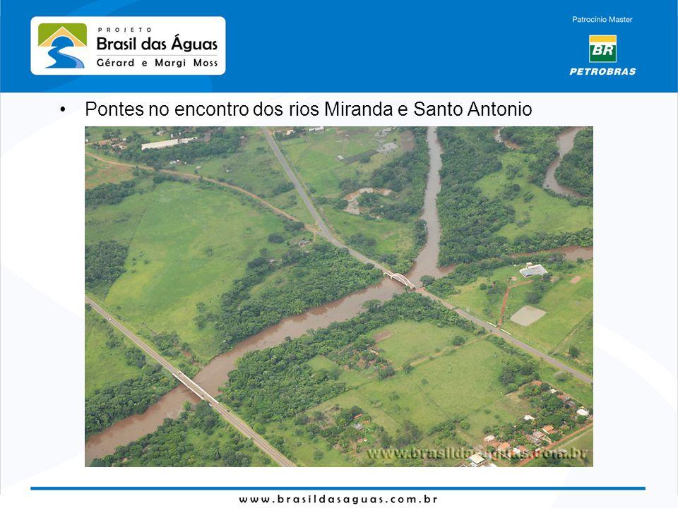 Pontes no encontro dos rios Miranda e Santo Antonio