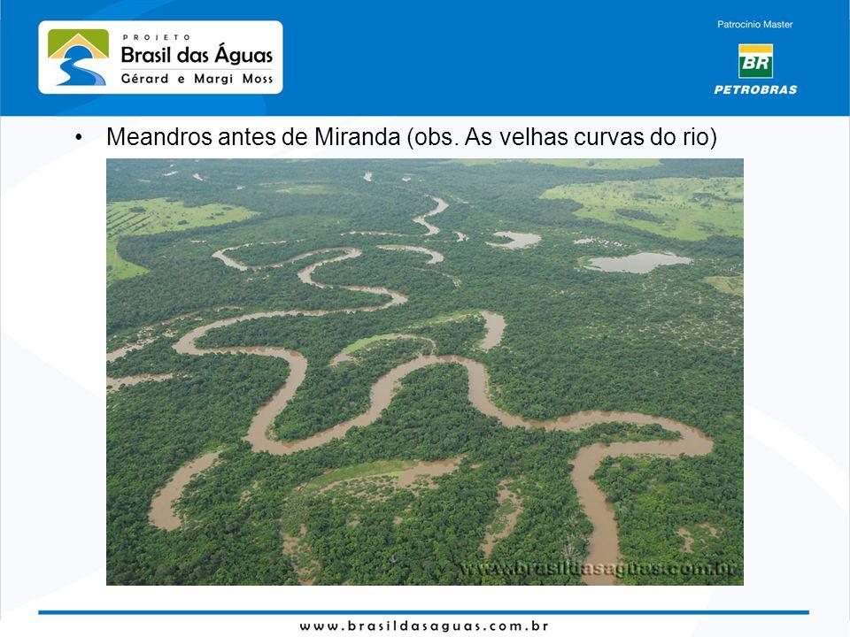 Meandros antes de Miranda (obs. As velhas curvas do rio)