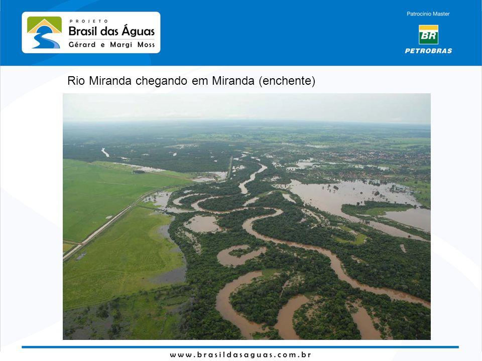Rio Miranda chegando em Miranda (enchente)