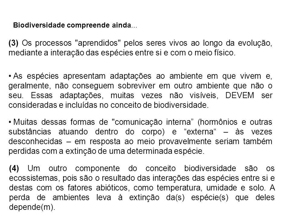 (3) Os processos