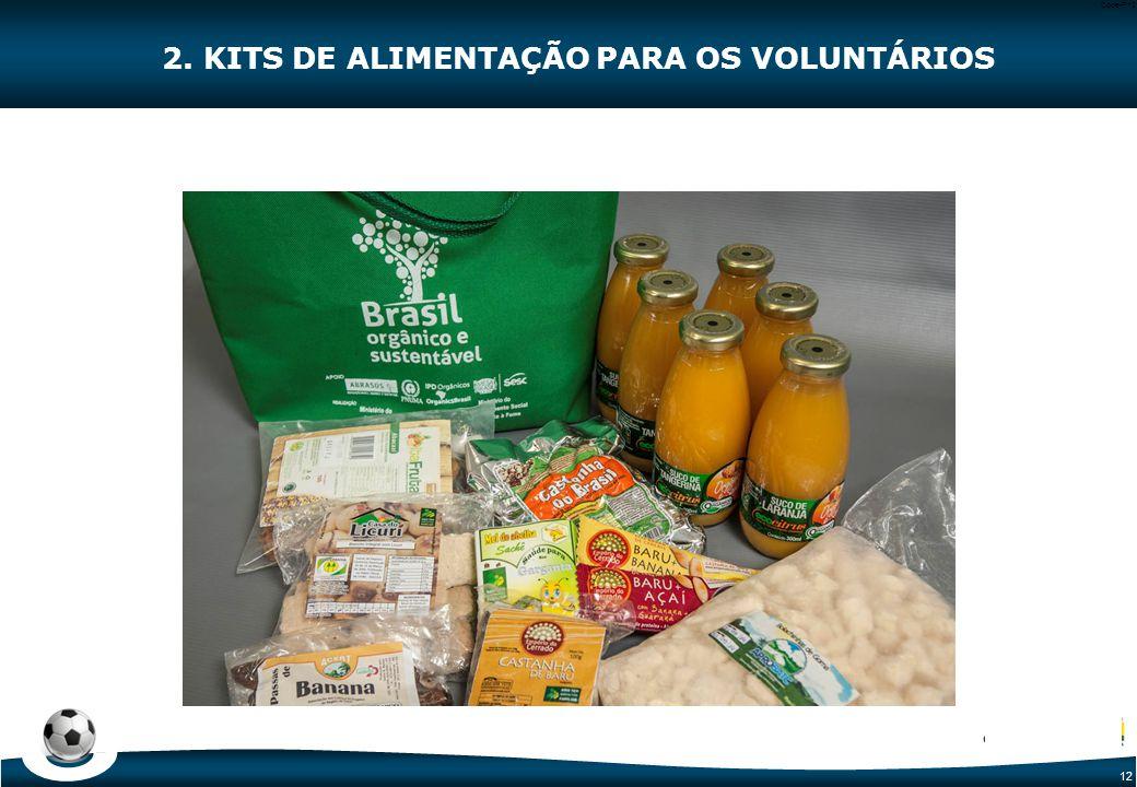 12 Code-P12 2. KITS DE ALIMENTAÇÃO PARA OS VOLUNTÁRIOS