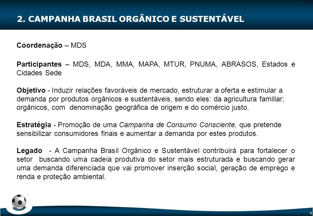 9 Code-P9 Categoria de Certificação Contempladas (SELOS)  Produto Orgânico Brasil  Aqui tem Agricultura Familiar 2.