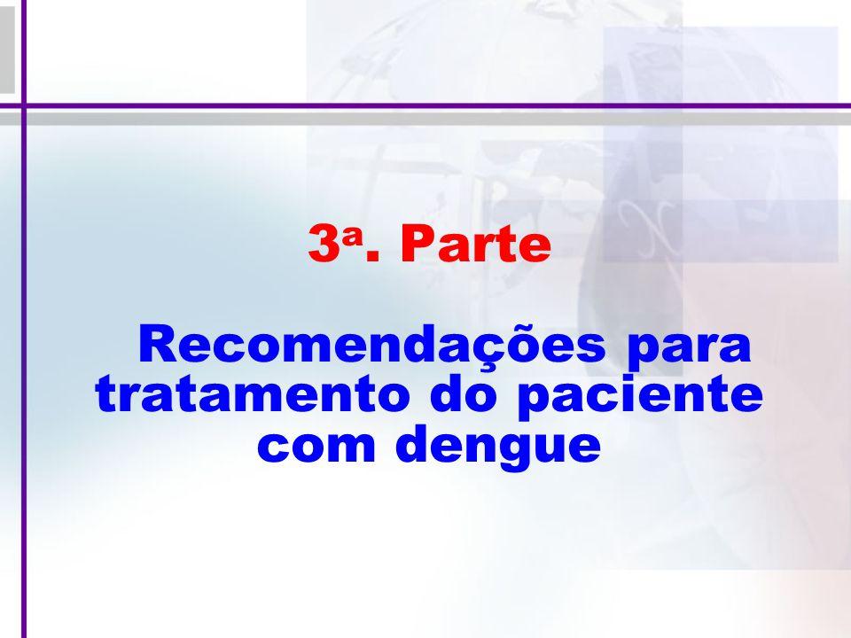 3 a. Parte Recomendações para tratamento do paciente com dengue
