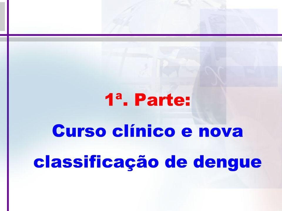 1ª. Parte: Curso clínico e nova classificação de dengue