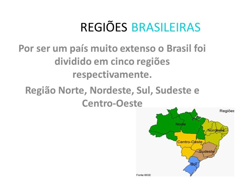 AS REGIÕES BRASILEIRAS PROFESSORA: Tereza Maria Aragão