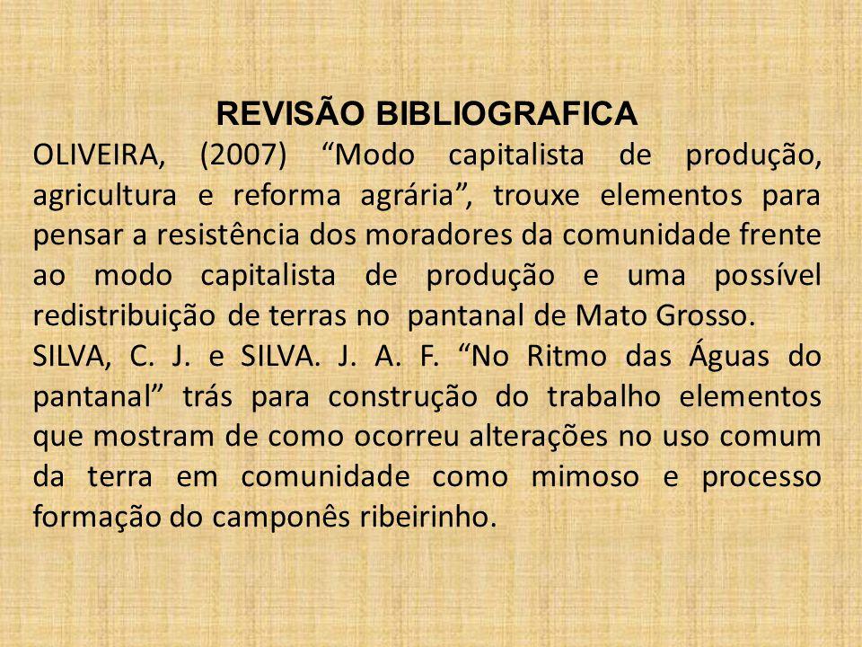 """REVISÃO BIBLIOGRAFICA OLIVEIRA, (2007) """"Modo capitalista de produção, agricultura e reforma agrária"""", trouxe elementos para pensar a resistência dos m"""
