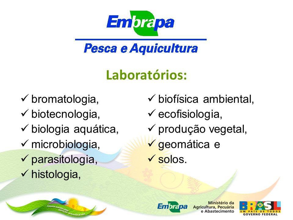 bromatologia, biotecnologia, biologia aquática, microbiologia, parasitologia, histologia, Laboratórios: biofísica ambiental, ecofisiologia, produção vegetal, geomática e solos.