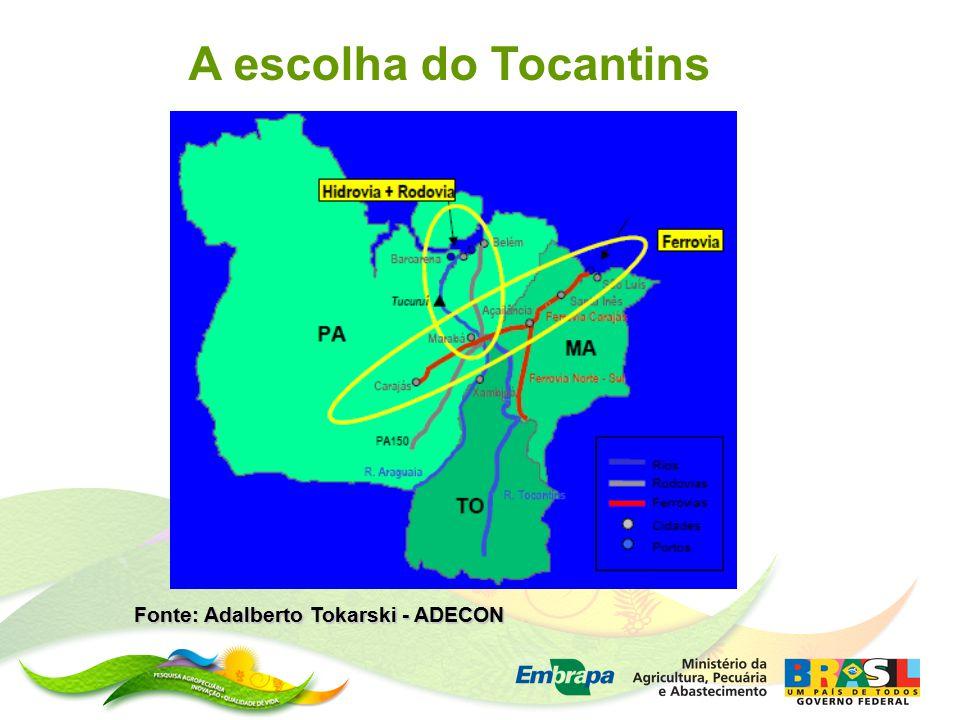 Fonte: Adalberto Tokarski - ADECON A escolha do Tocantins