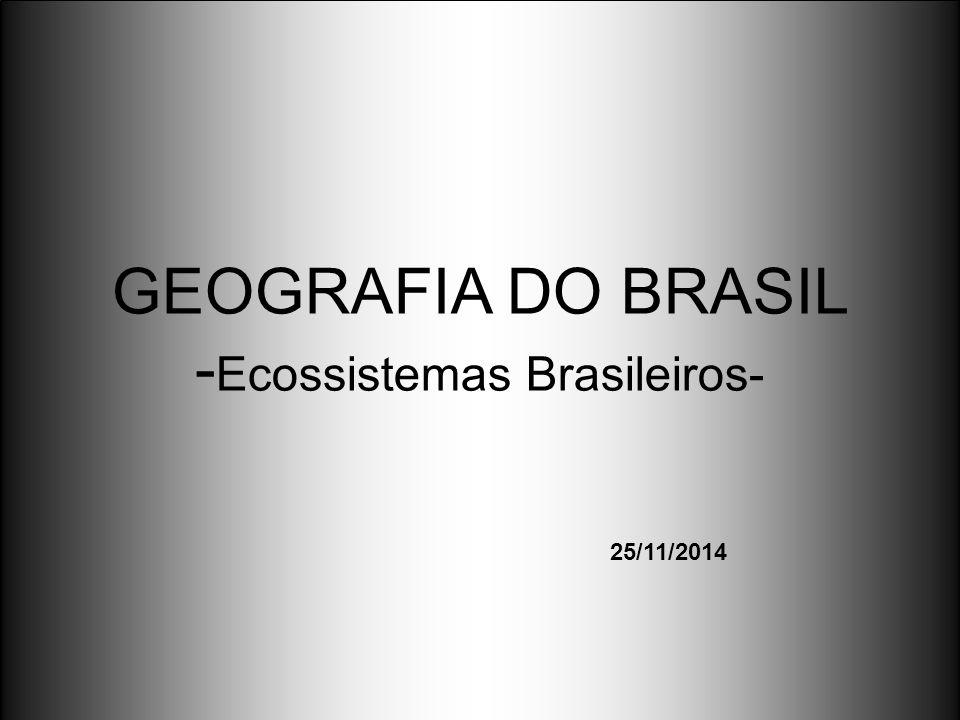 GEOGRAFIA DO BRASIL - Ecossistemas Brasileiros- 25/11/2014
