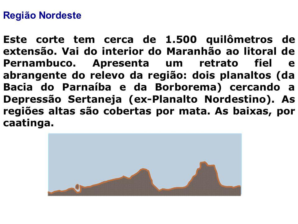 Região Nordeste Este corte tem cerca de 1.500 quilômetros de extensão.