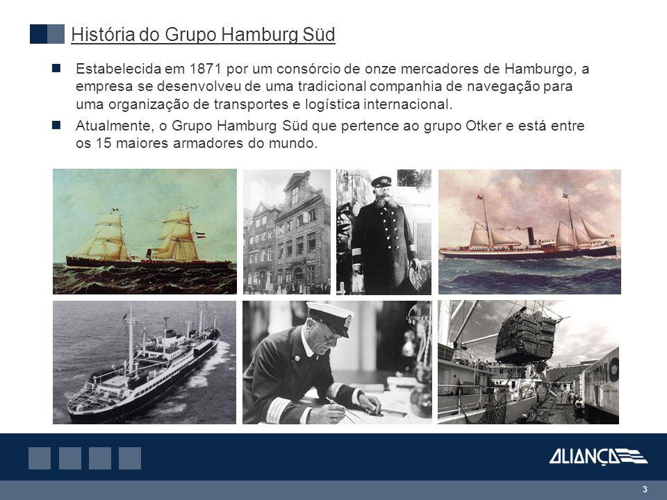 3 Estabelecida em 1871 por um consórcio de onze mercadores de Hamburgo, a empresa se desenvolveu de uma tradicional companhia de navegação para uma organização de transportes e logística internacional.