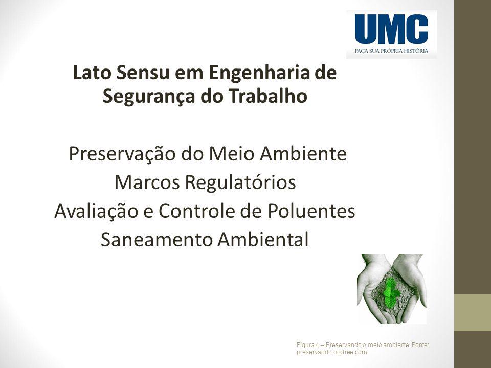 Lato Sensu em Engenharia de Segurança do Trabalho Preservação do Meio Ambiente Marcos Regulatórios Avaliação e Controle de Poluentes Saneamento Ambien