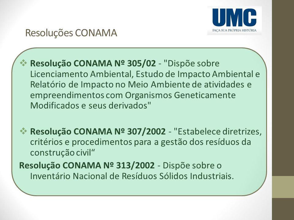 Resoluções CONAMA  Resolução CONAMA Nº 305/02 -