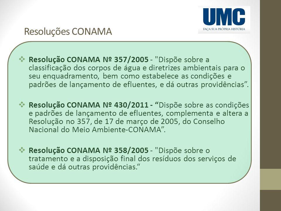 Resoluções CONAMA  Resolução CONAMA Nº 357/2005 -
