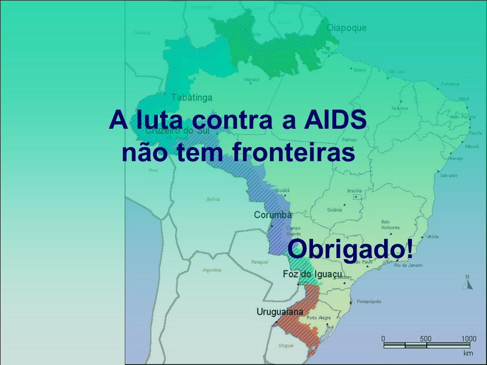 A luta contra a AIDS não tem fronteiras Obrigado!