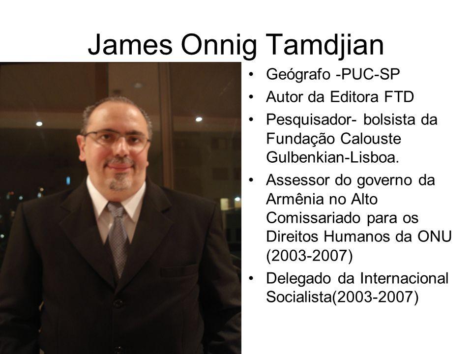 Geógrafo -PUC-SP Autor da Editora FTD Pesquisador- bolsista da Fundação Calouste Gulbenkian-Lisboa. Assessor do governo da Armênia no Alto Comissariad