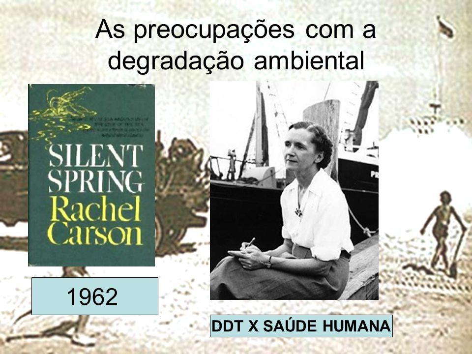 As preocupações com a degradação ambiental 1962 DDT X SAÚDE HUMANA
