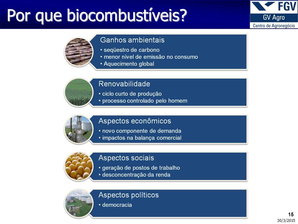 15 30/3/2015 Por que biocombustíveis?
