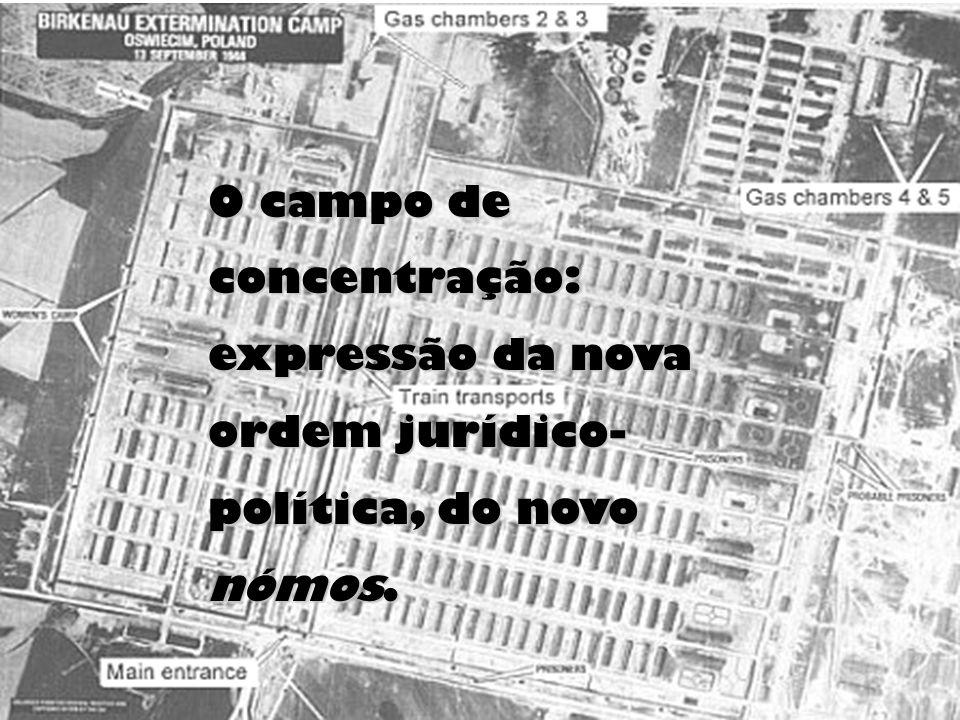 O campo de concentração: expressão da nova ordem jurídico- política, do novo nómos.