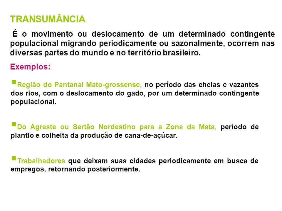 MOVIMENTO DE NOMADISMO Consiste na forma primitiva de deslocamento populacional e de adaptação ao meio de ocupação.