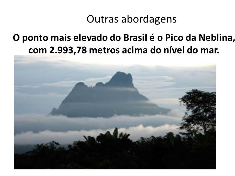 O ponto mais elevado do Brasil é o Pico da Neblina, com 2.993,78 metros acima do nível do mar. Pico da Neblina, o ponto mais elevado do Brasil Outras