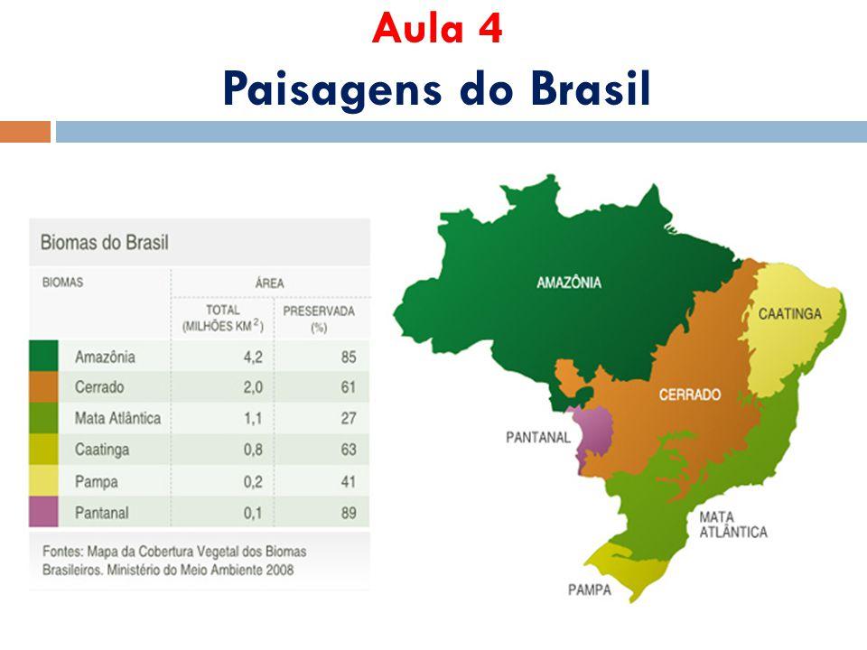 Tipos de Vegetação Brasileira  Florestais (latifoliadas e aciculifoliadas)  Complexas ou Arbustivas  Herbáceas (vegetação rasteiras)  Litorâneas
