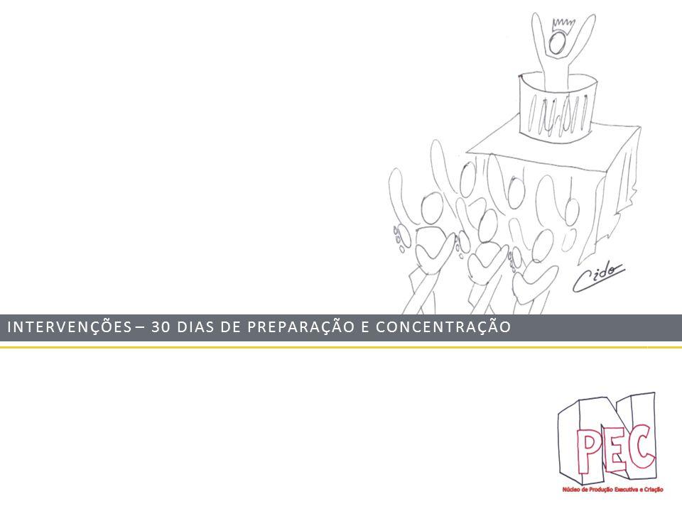 INTERVENÇÕES – 30 DIAS DE PREPARAÇÃO E CONCENTRAÇÃO