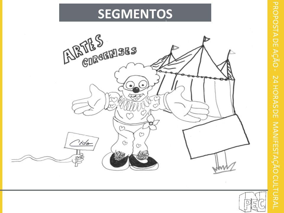 PROPOSTA DE AÇÃO - 24 HORAS DE MANIFESTAÇÃO CULTURAL SEGMENTOS