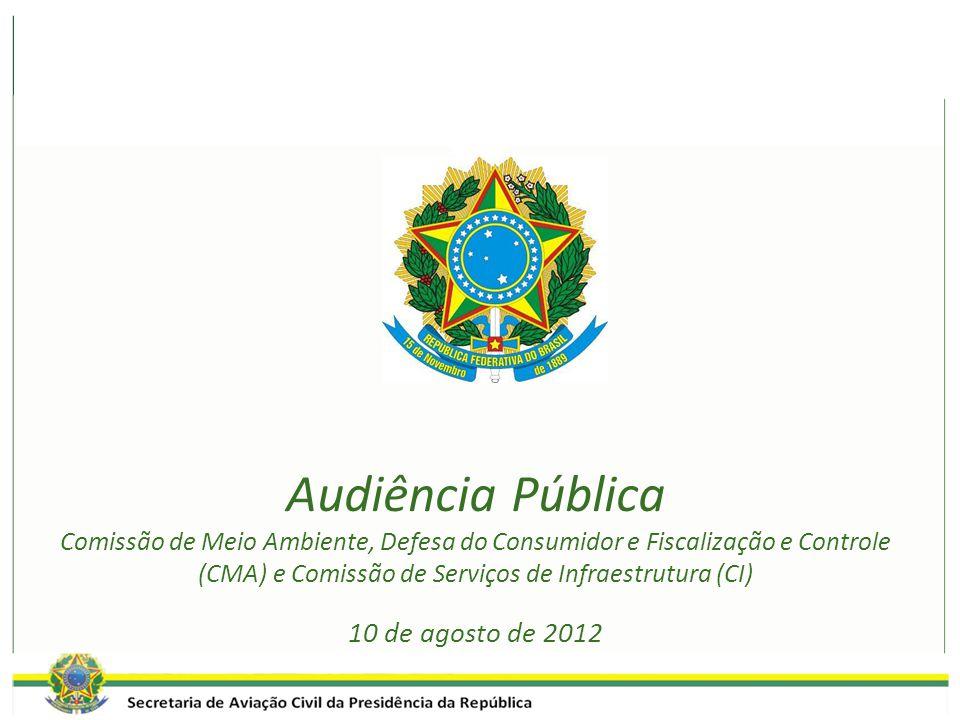 Audiência Pública Comissão de Meio Ambiente, Defesa do Consumidor e Fiscalização e Controle (CMA) e Comissão de Serviços de Infraestrutura (CI) 10 de agosto de 2012
