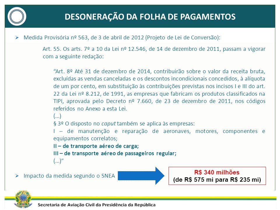  Medida Provisória nº 563, de 3 de abril de 2012 (Projeto de Lei de Conversão): Art.
