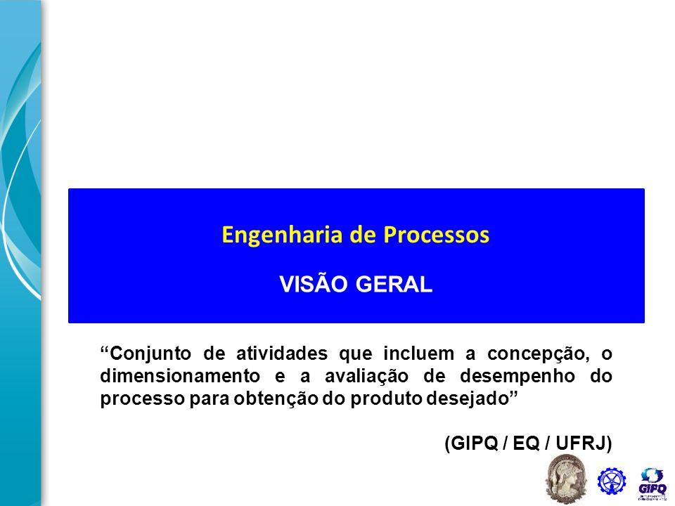"""VISÃO GERAL """"Conjunto de atividades que incluem a concepção, o dimensionamento e a avaliação de desempenho do processo para obtenção do produto deseja"""