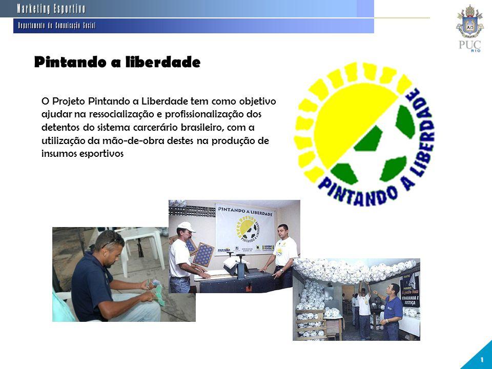 Pintando a liberdade 1 O Projeto Pintando a Liberdade tem como objetivo ajudar na ressocialização e profissionalização dos detentos do sistema carcerário brasileiro, com a utilização da mão-de-obra destes na produção de insumos esportivos