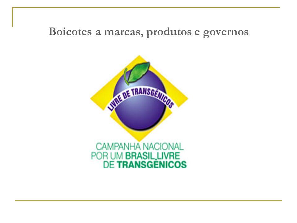 Boicotes a marcas, produtos e governos