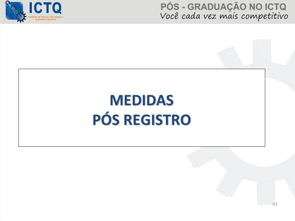 83 MEDIDAS PÓS REGISTRO
