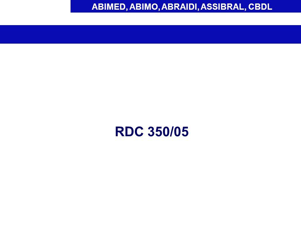 ABIMED, ABIMO, ABRAIDI, ASSIBRAL, CBDL RDC 350/05