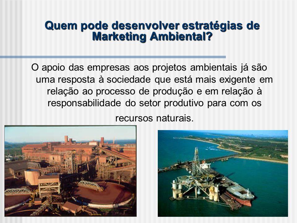Quem pode desenvolver estratégias de Marketing Ambiental.