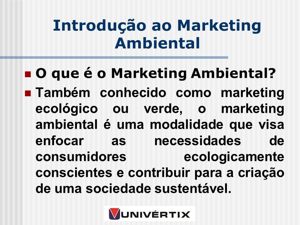 Introdução ao Marketing Ambiental O que é o Marketing Ambiental.
