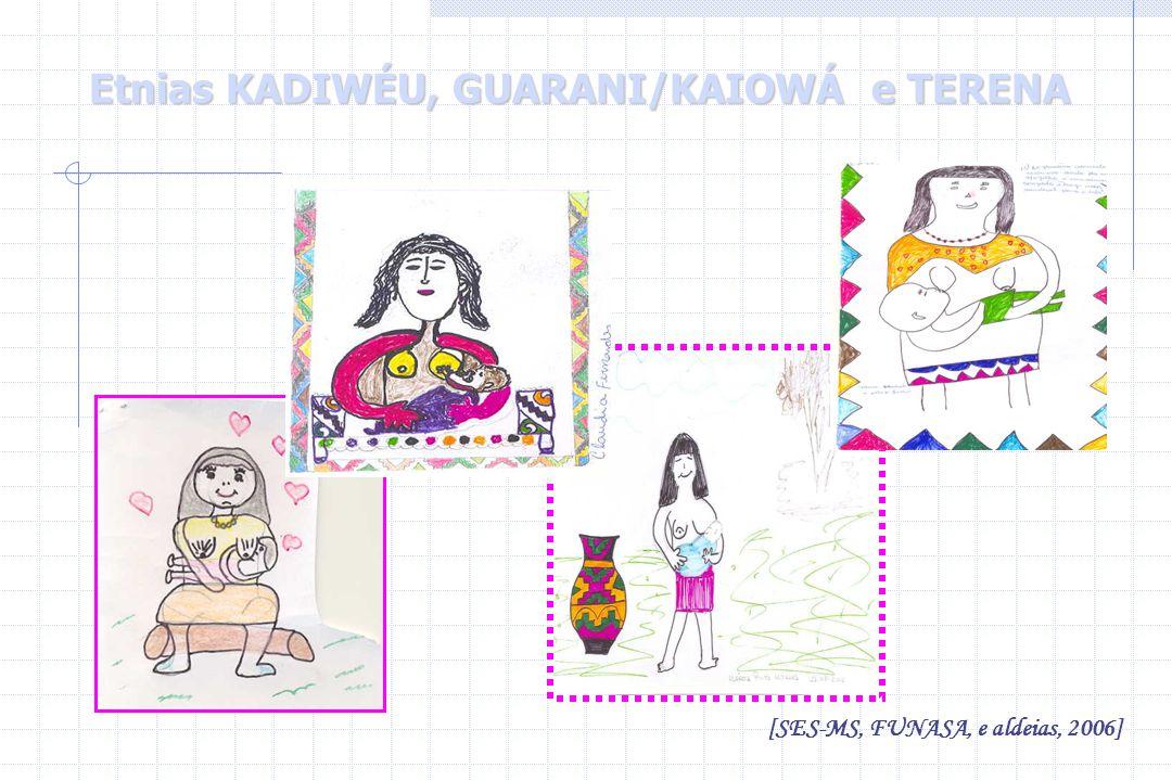 Etnias KADIWÉU, GUARANI/KAIOWÁ e TERENA [SES-MS, FUNASA, e aldeias, 2006]