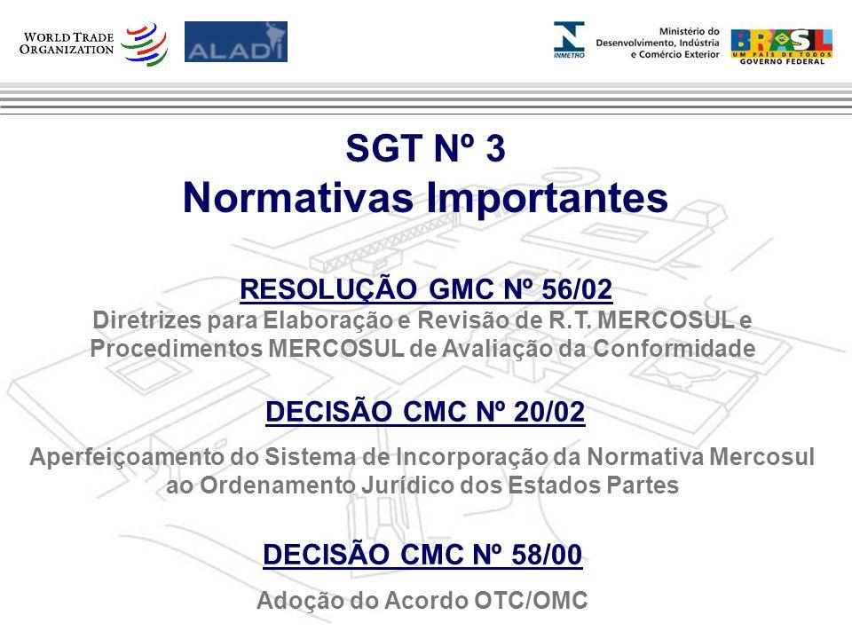 Clique para editar os estilos do texto mestre Segundo nível Terceiro nível Quarto nível Quinto nível 4 SGT Nº 3 Normativas Importantes RESOLUÇÃO GMC Nº 56/02 Diretrizes para Elaboração e Revisão de R.T.