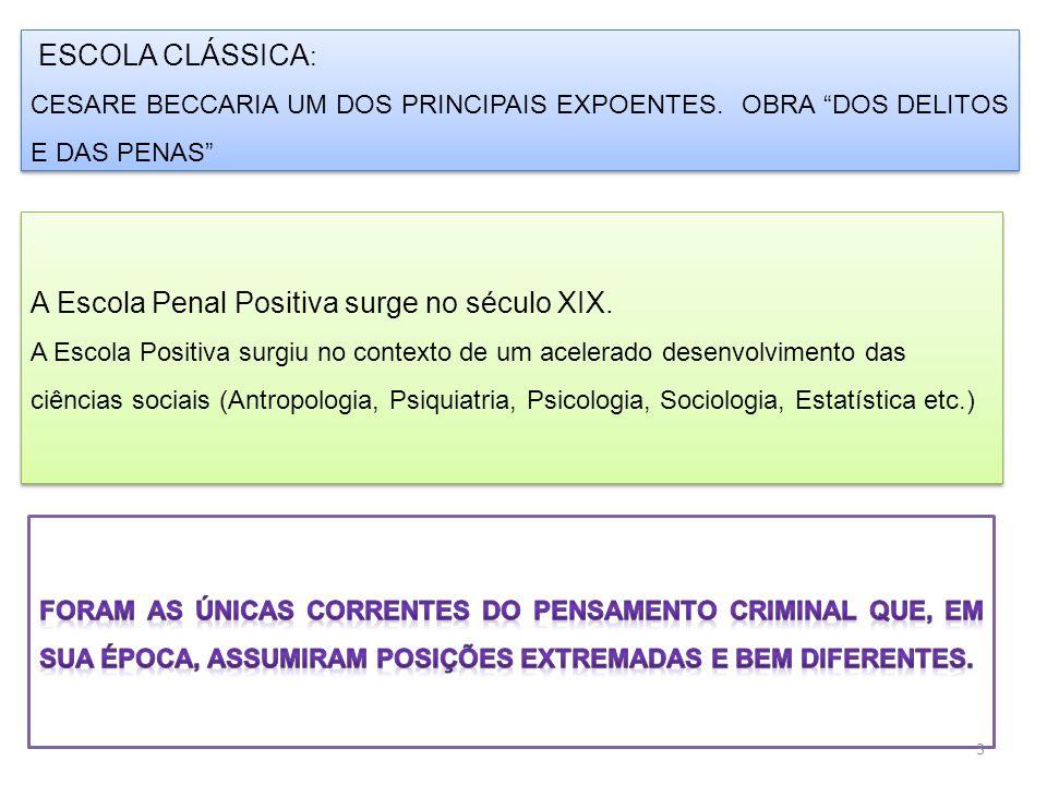 ESCOLA CLÁSSICA : CESARE BECCARIA UM DOS PRINCIPAIS EXPOENTES.