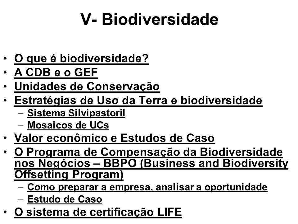 V- Biodiversidade O que é biodiversidade.