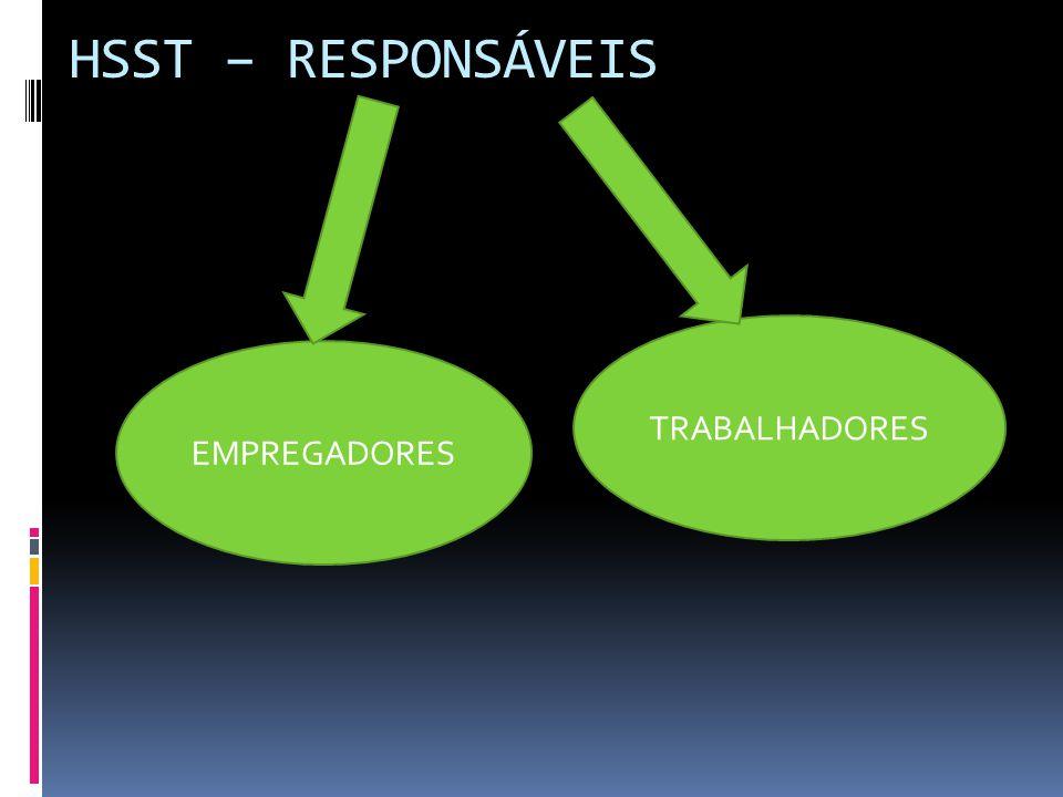 HSST – RESPONSÁVEIS EMPREGADORES TRABALHADORES