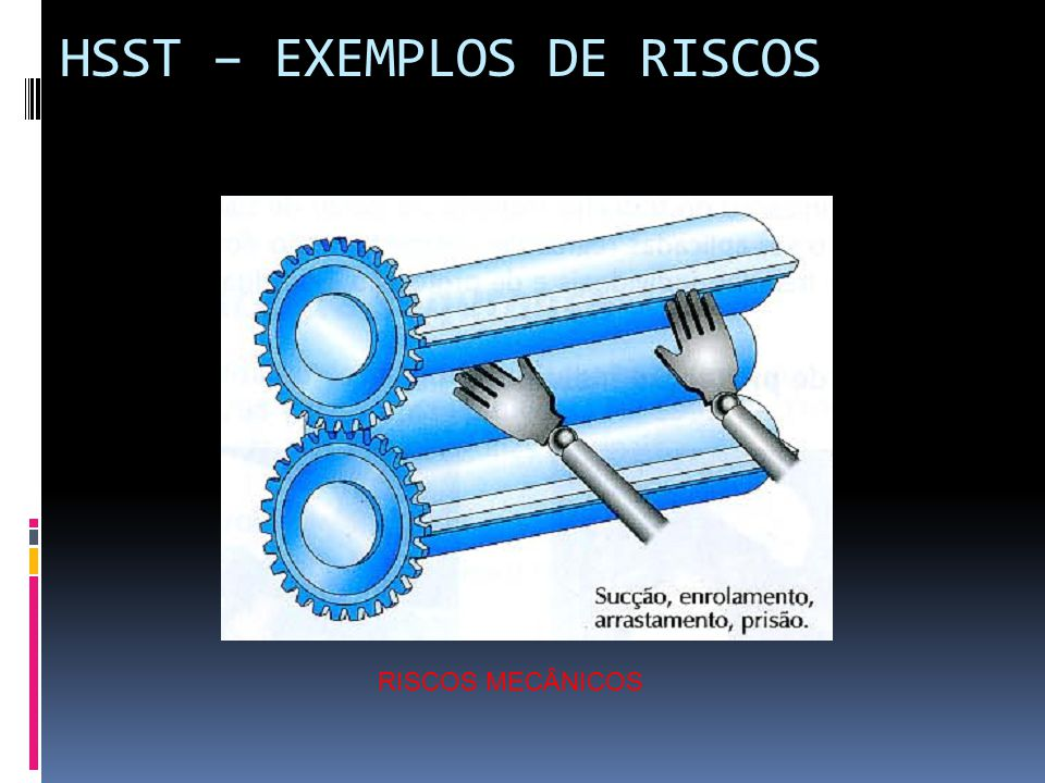 HSST – EXEMPLOS DE RISCOS RISCOS MECÂNICOS