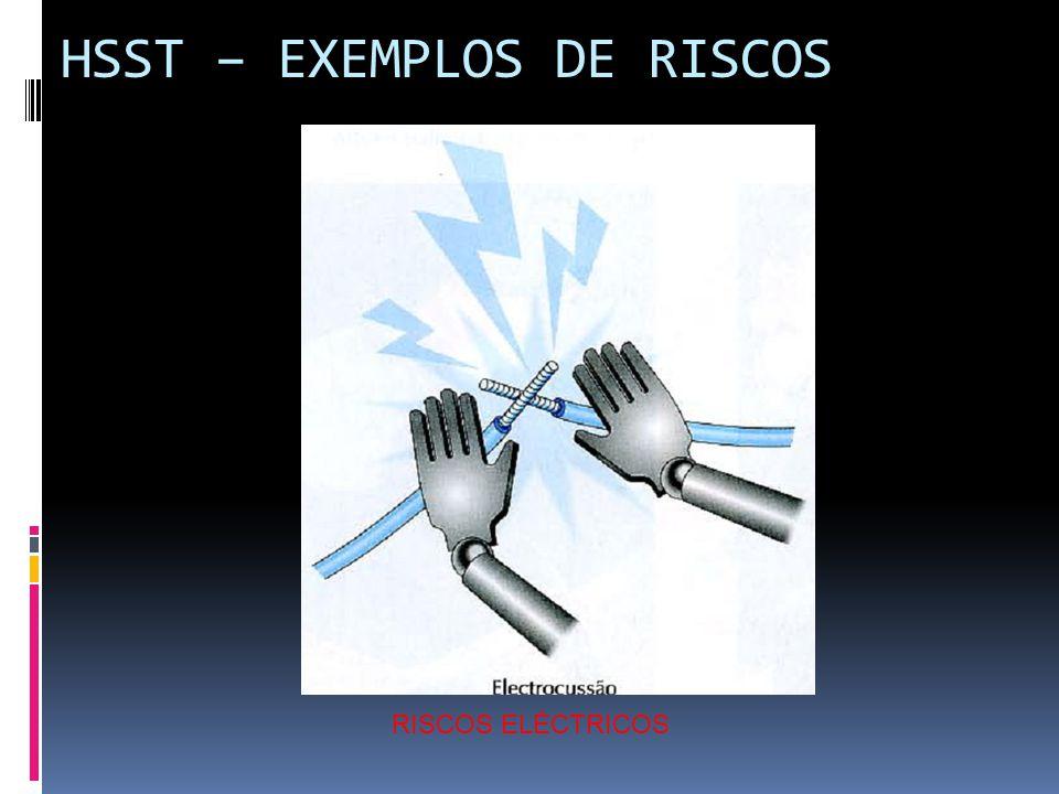HSST – EXEMPLOS DE RISCOS RISCOS ELÉCTRICOS