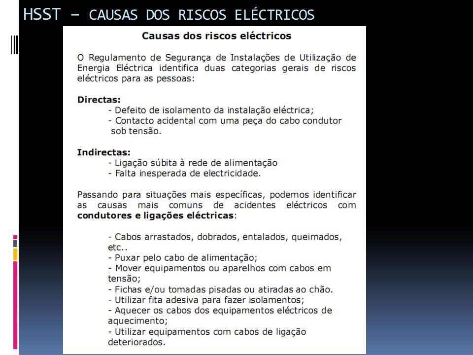 HSST – CAUSAS DOS RISCOS ELÉCTRICOS