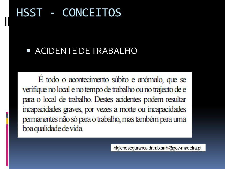  ACIDENTE DE TRABALHO HSST - CONCEITOS