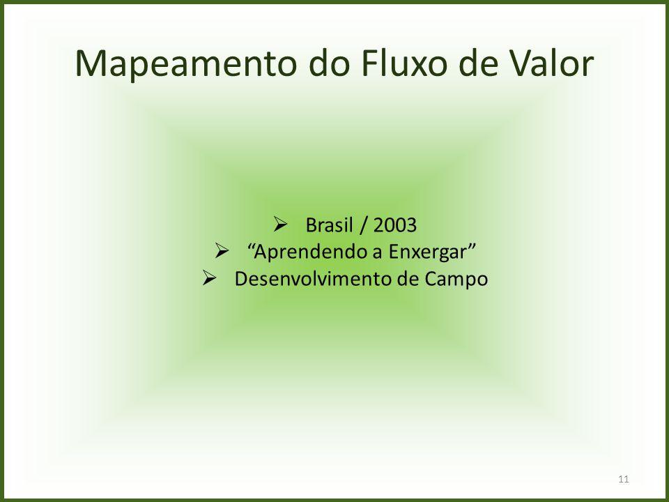 """Mapeamento do Fluxo de Valor  Brasil / 2003  """"Aprendendo a Enxergar""""  Desenvolvimento de Campo 11"""