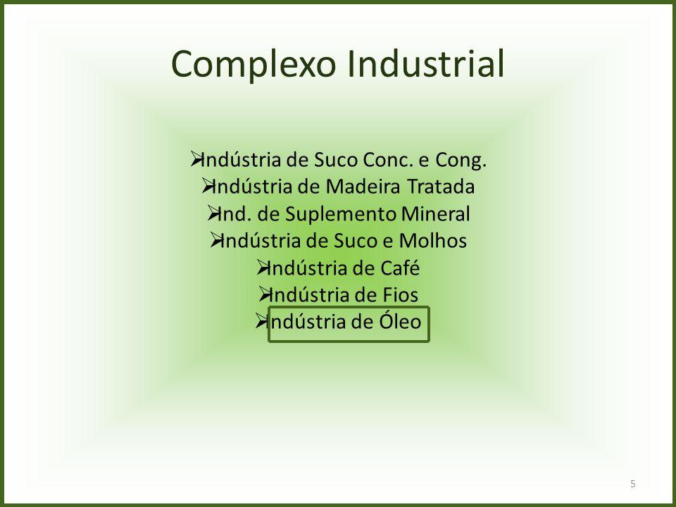 5 Complexo Industrial  Indústria de Suco Conc. e Cong.  Indústria de Madeira Tratada  Ind. de Suplemento Mineral  Indústria de Suco e Molhos  Ind